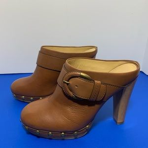 Coach Elaine Leather Mules/Clogs